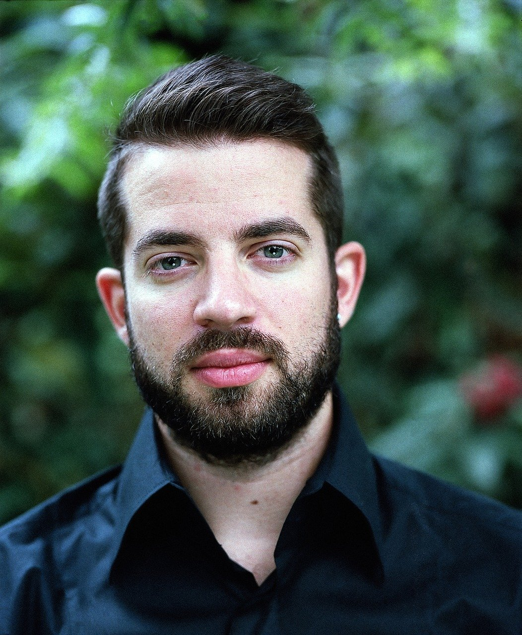 young man, portrait, beard